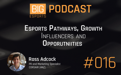 #016 – Esports Pathways, Growth, Influencers and Opportunities (With Ross Adcock)