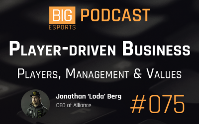 #075 – Player-driven Business. Players, Management and Values with Jonathan 'Loda' Berg – CEO of Alliance
