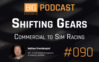 #90 – Shifting Gears. Commercial To Sim Racing – With Nathan Prendergast – GM of TV and Content for Supercars – Supercars Australia